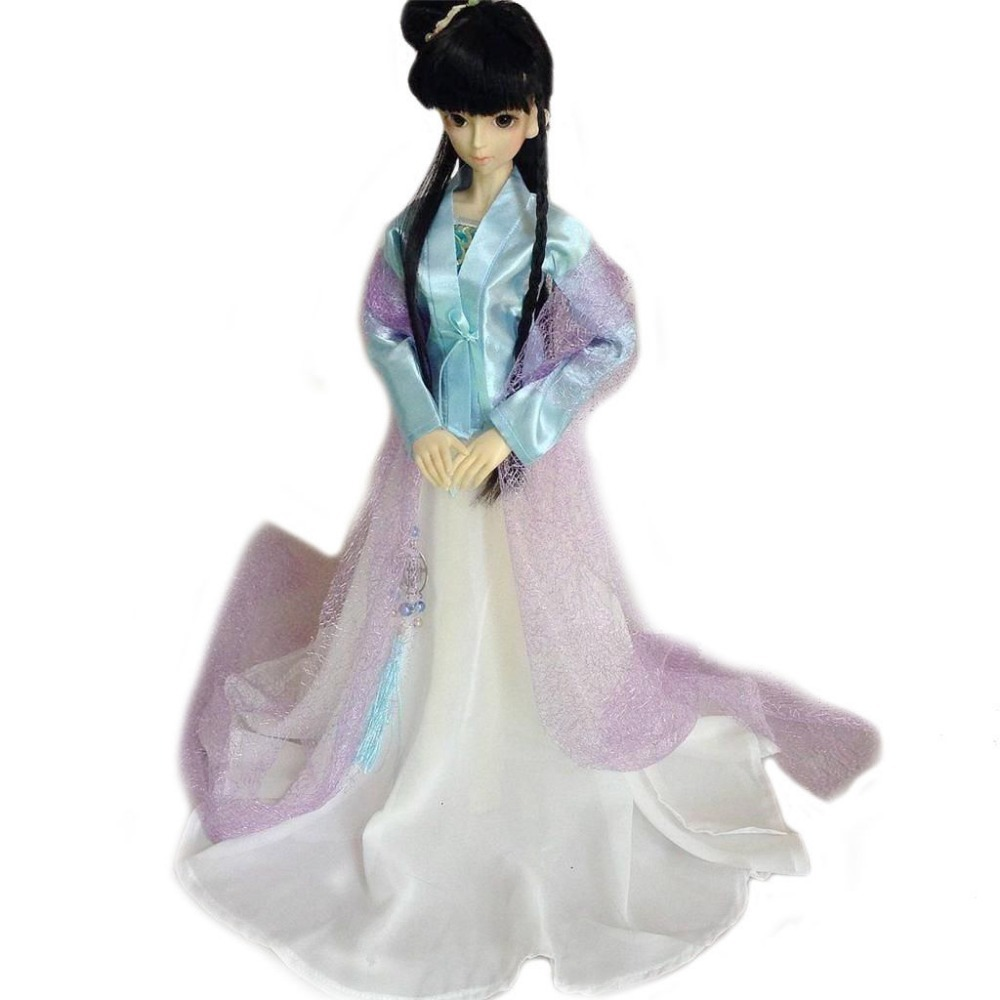 [wamami] 699# Blue&White Chinese Classical Long Dress For 1/3 SD BJD Doll 699 pink chinese classical long dress suit for 1 3 sd bjd dollfie