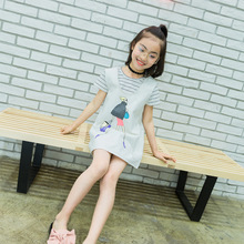 Kids Girls Summer Suit 2017 New Children T--shirt + Dress Two Piece Set Tide Princess Dresses for 4 5 6 7 8 10 11 12 13 14 Years children set 2017 new style children s sports two piece suit girls clothing sets 5 6 7 8 9 10 11 12 years old female pullovers