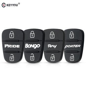 KEYYOU para Hyundai I30 IX35 Kia K2 K5 orgullo BONgo RNY PORTER clave 3 botones Flip carcasa de llave a distancia de coche caso almohadillas de goma