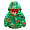 New Brand Boys Winter Coat Print Dinosaur Kids Winter Jacket Kinder Kleidung Hooded Boys Winter Jacket F522