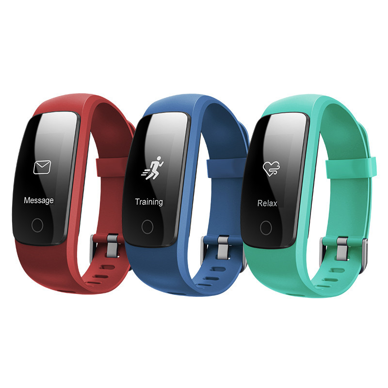 ID107 Plus HR Heart Rate Bracelet Monitor Wristband Health Track GPS Alert Clock Multifunction Sweatproof For