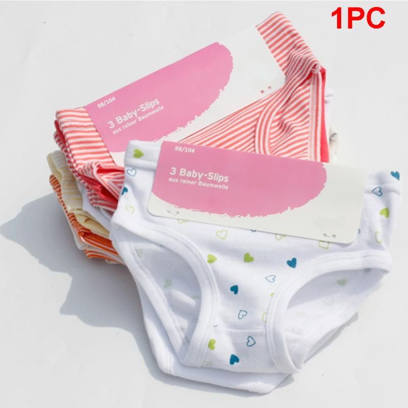 Cotton Kid Girl Print Underwear Stripe Briefs Cute Baby Girls Comfort Briefs Underwear Panties
