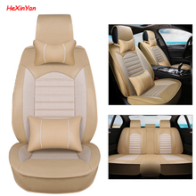 цена на HeXinYan Universal Car Seat Covers for Mitsubishi all models outlander pajero sport lancer 9 10 ASX pajero 4 dazzle auto styling