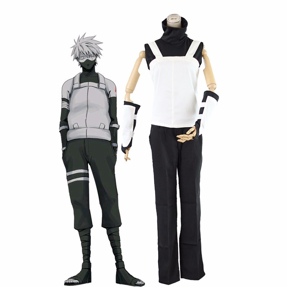 Anime Naruto Utsugi Yugao Akatsuki Hatake Kakashi  Uchiha Itachi Cosplay Costume Full Set Ninja White Uniform Halloween Costumes