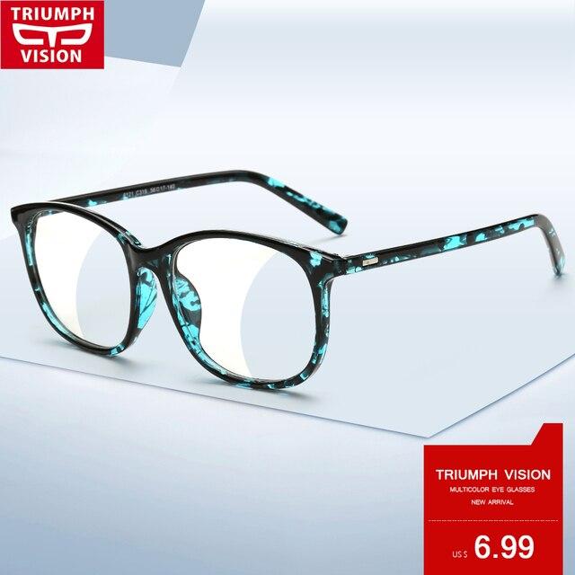 7b248ea99 TRIUMPH VISÃO Acetato óculos de Armação Preta Mulheres Praça Designer de 2016  Óculos de Armação de