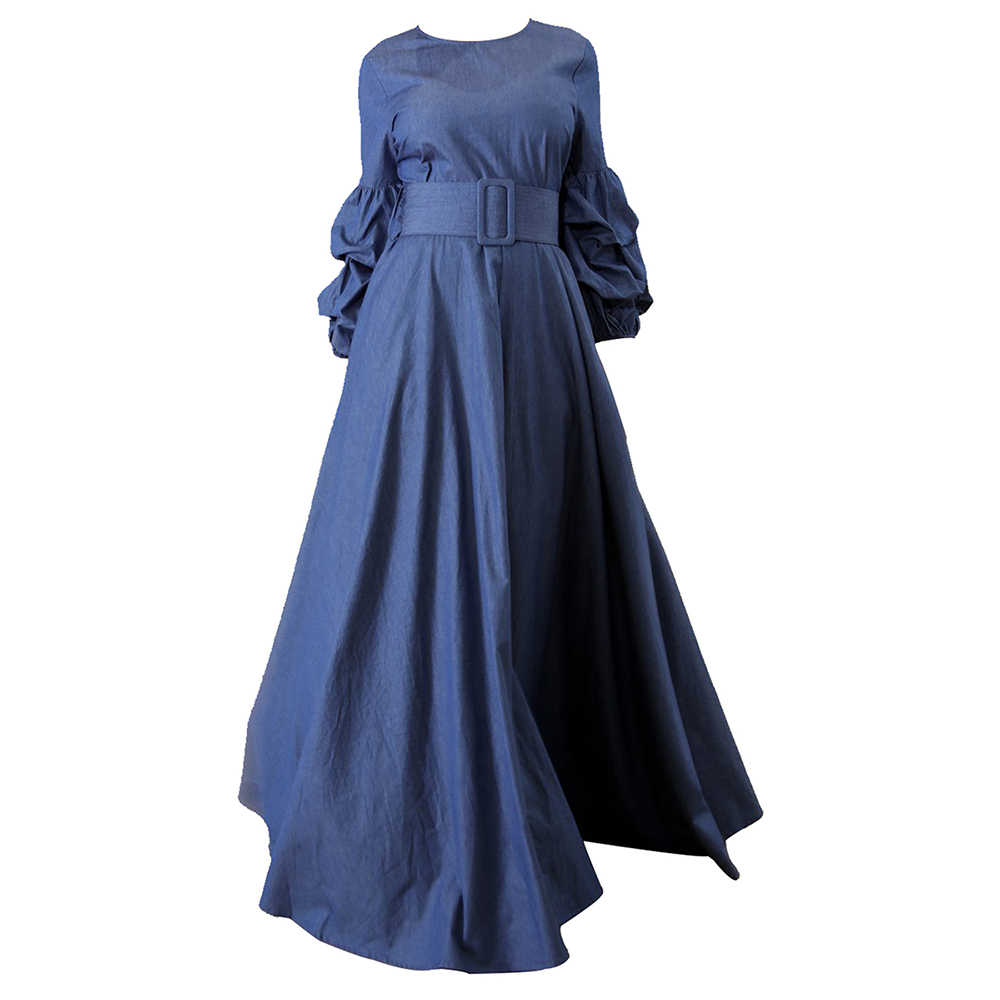33792ff7a7fe ... Women long Dresses Winter Autumn Long Sleeve Maxi Dress Elastic round  collar Dress Plus Size Ball
