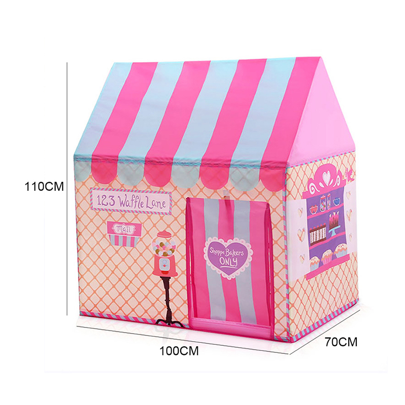 size of pink tent for baby