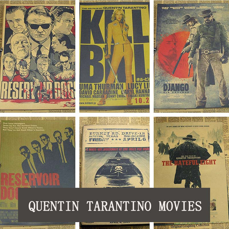 COSY MOMENT Inglourious Basterds / Django Unchained / Reservoir Dogs / Kill Bill Quentin Tarantino Movies Vintage Poster  QT365