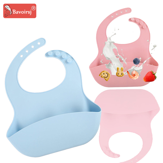 Safe Soft Silicone Baby Bibs Baby Feeding Tablewear Printing Candy Color Infant Waterproof Cartoon Bibs for New Born T0131