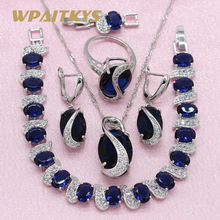 Jewelry-Sets Ring-Bracelet Necklace Pendant Wedding-Earrings Silver-Color Cubic-Zirconia
