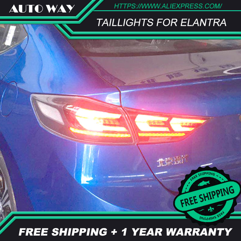 Free shipping ! Tail light LED lights parking taillights LED taillight case for Hyundai Elantra 2017 2018 Car styling free shipping for vland car tail lamp for civic led taillight 2016 2017 with spoiler light all led design