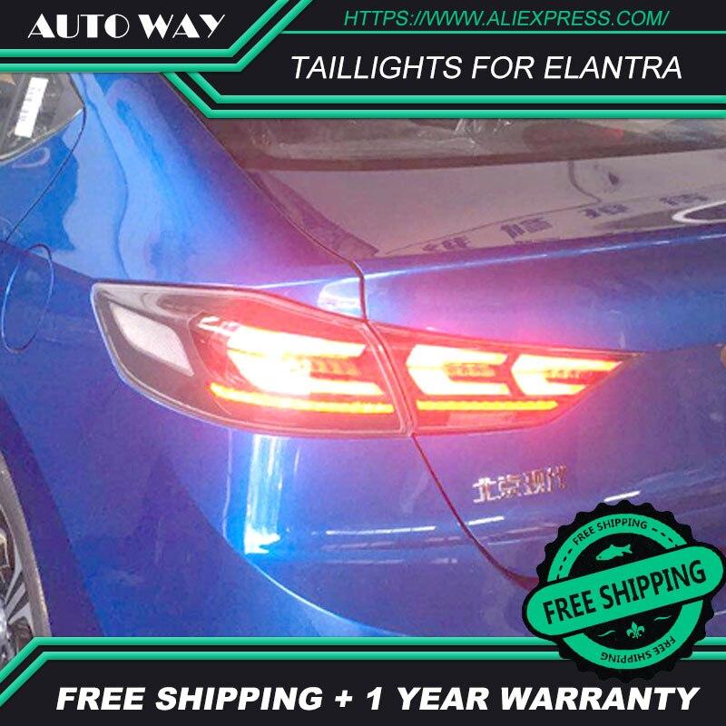 Spedizione gratuita! Fanale posteriore A LED luci di parcheggio fanali posteriori fanale posteriore A LED per Hyundai Elantra 2017 2018 Car styling