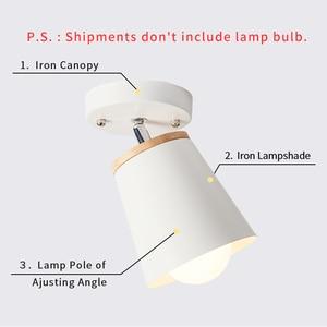 Image 5 - EL LED tavan ışık demir ahşap İskandinav Modern tavan lambası oturma odası yatak odası için dekorasyon fikstür koridor mutfak