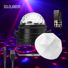 цена на USB RGB LED colorful energy-saving night light Car decoration light music rhythm DJ lamp bedroom room layout star Flash lights