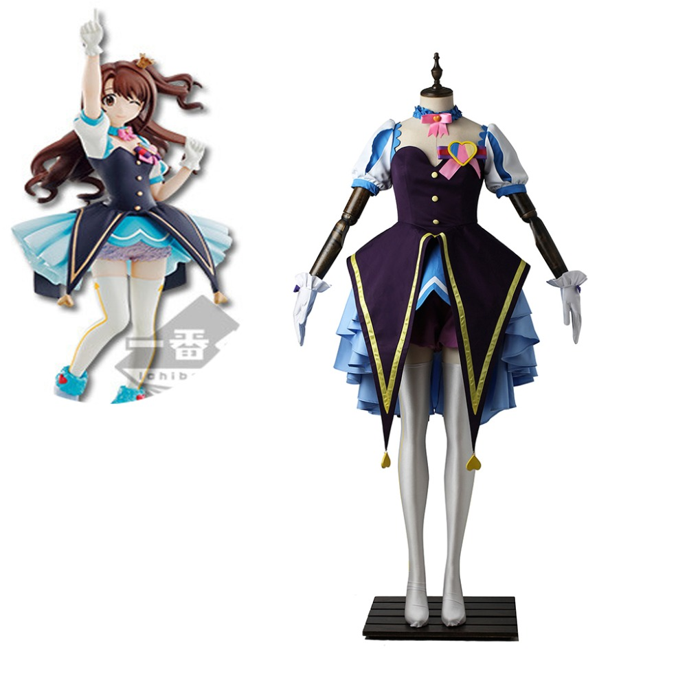 Cosplaydiy Anime The IDOLM@STER Cinderella Girls: Starlight Stage Uzuki Shimamura Cosplay Costume L320
