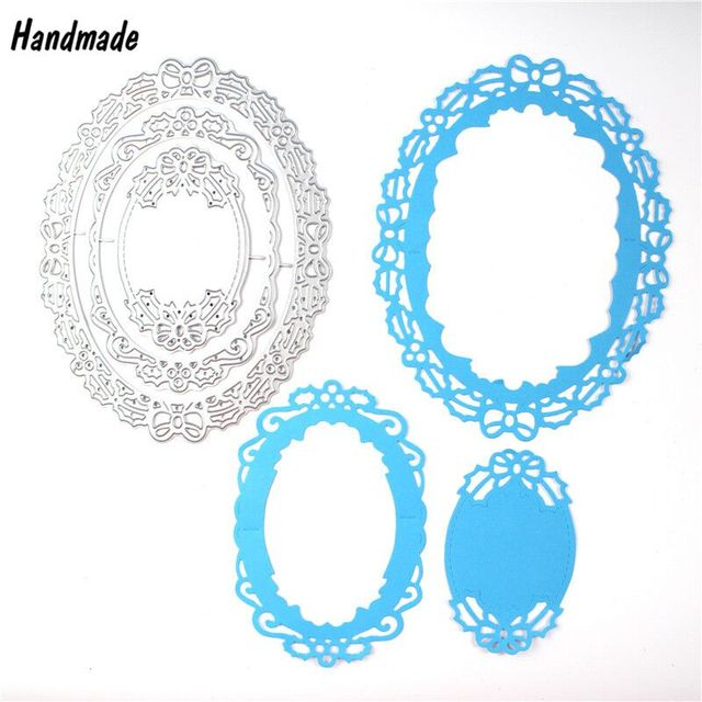 Metal Oval Bow Frame Die Cutting Dies Template Stencils For