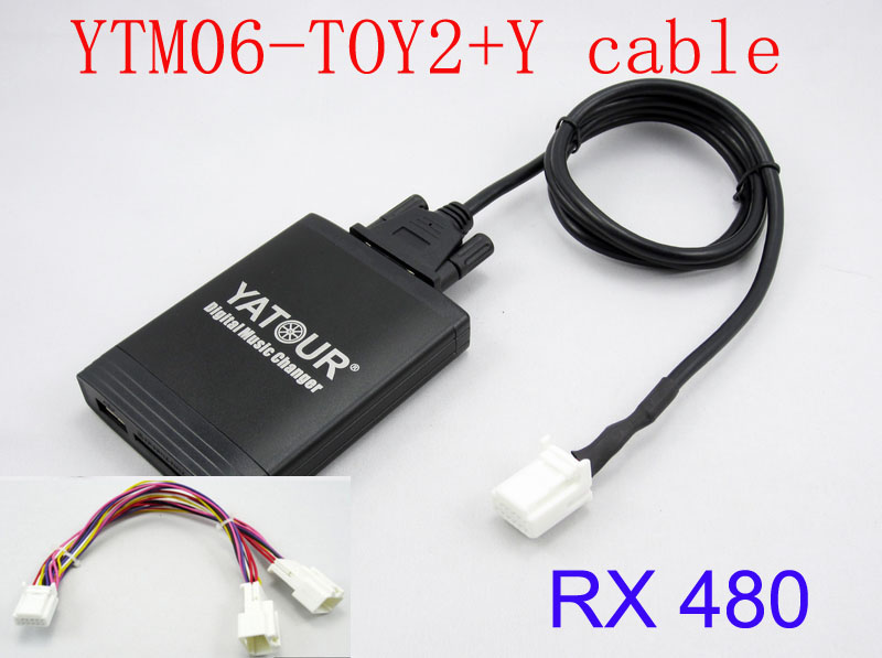 Yatour for Lexus RX 480 RX 300 RX 330 RX 350 2004-2009 With Y cable navigation Car stereo USB SD MP3 Bluetooth Adapter 6+6 pin  Lexus RX