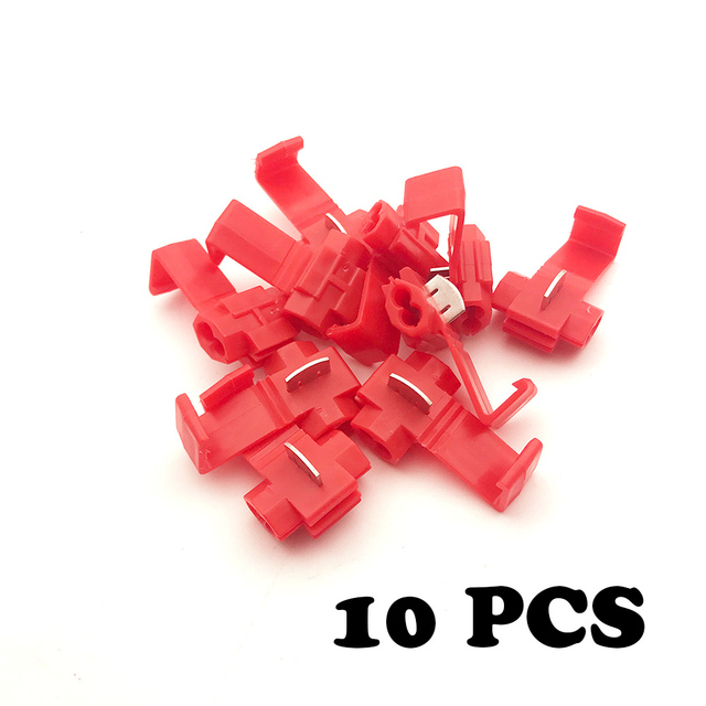 Clip On Wire Connectors | 10 Pcs Wire Terminals Quick Wiring Connector Cable Clamp Awg 22 18