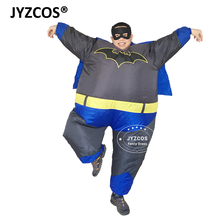 JYZCOS Batman Cosplay Inflatable Costumes for Adult Men Women Superhero Anime Airblown Outfit Movie Fancy Dress Fantasia Outfit