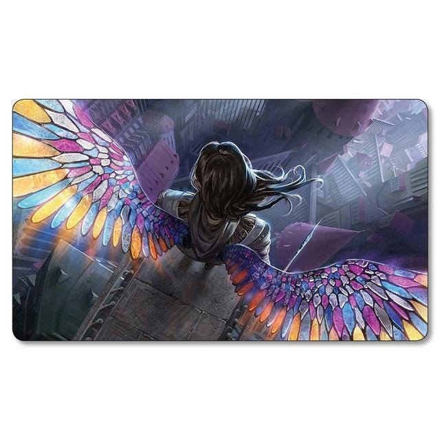 Angelart  Angel Wings Playmats Magic Game the gathering Board Games Playmat,mtg big Mouse Pad,mtg cards play mat