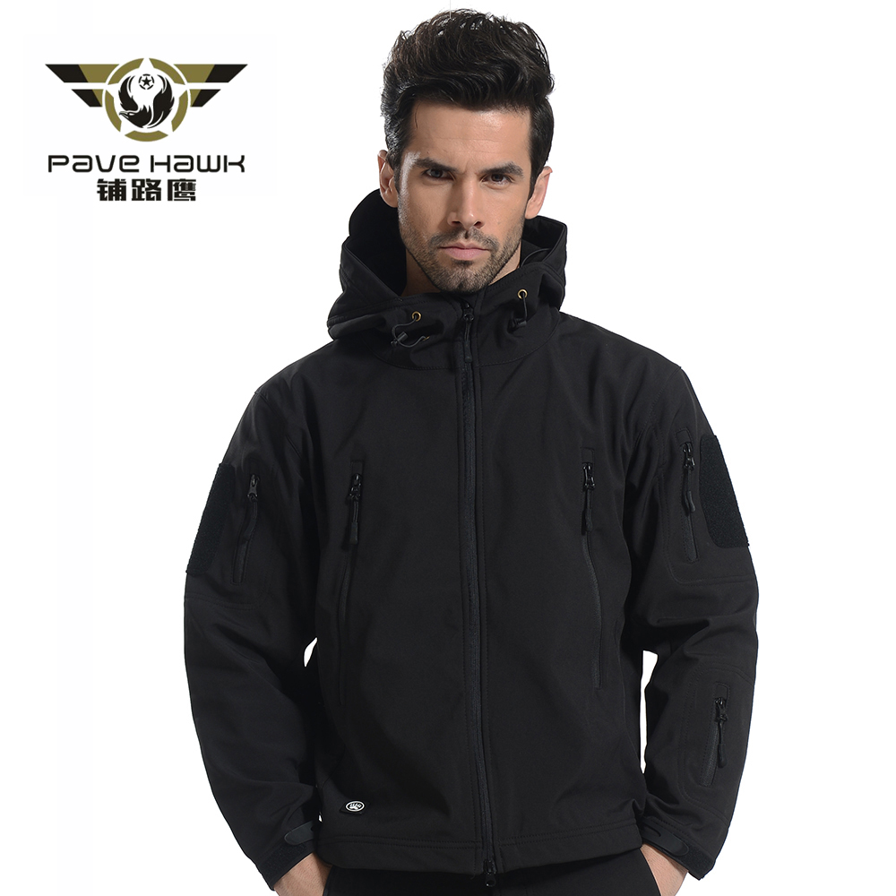 Softshell Jacket Ерлерге арналған су өткізбейтін Windproof Warm Winter Камуфляж Windbreaker Hiking Hunting Coat Military Jacket Tactical