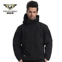 Флисовая Куртка мужская флисовая водостойкая ветрозащитная теплая зимняя камуфляжная ветровка для походов охотничье Пальто Военная куртка тактическая
