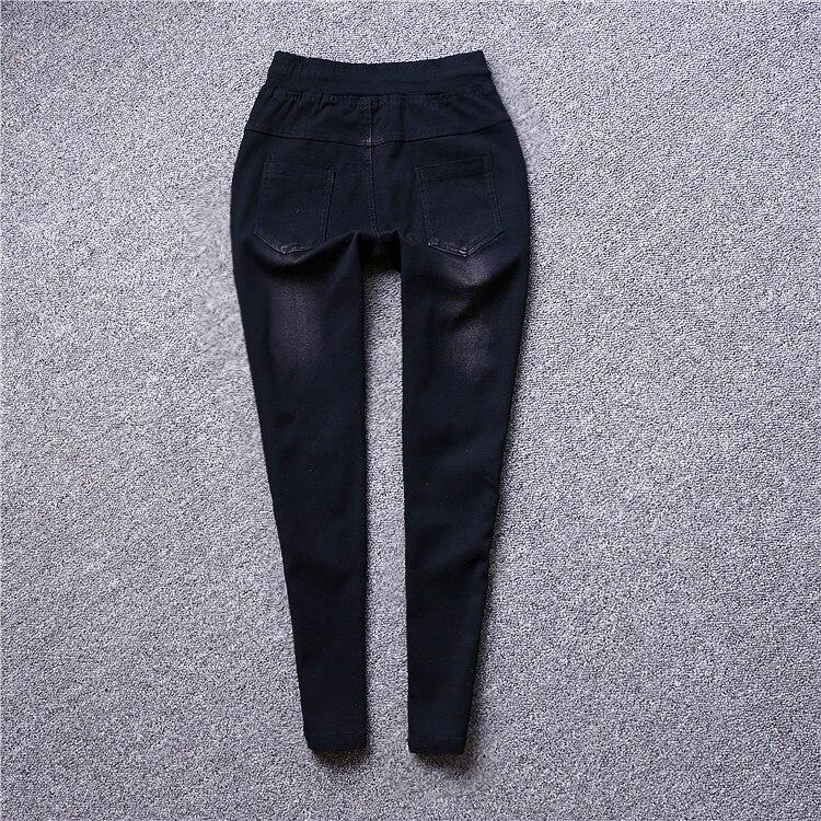 2019 nouveauté mode femmes Jeans moulante pantalon femme lavé qualité pailletée Denim taille élastique Skinny Jeans Vestidos K435-in Jeans from Mode Femme et Accessoires    2