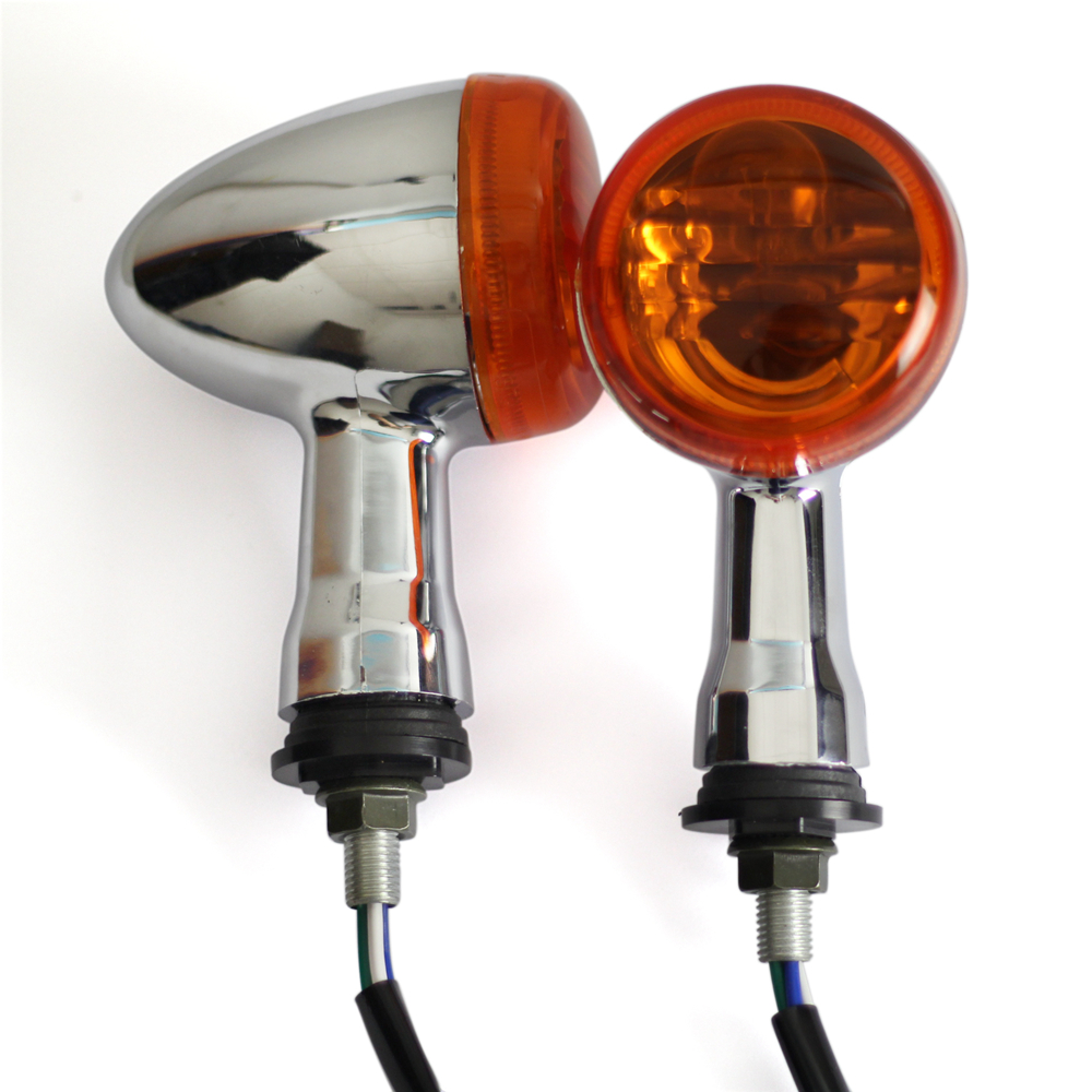 1 Pair Rear Motorcycle Turn Signals Light Lamp For SUZUKI VZR1800 M109R title=
