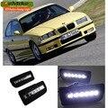 eeMrke Car LED DRL For BMW E36 3 Series 318 320 323 325 328i 92-99 High Power Xenon White Fog Cover Daytime Running Lights Kits