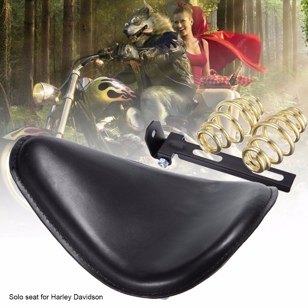 Leather Motorcycle Solo Seat Mount Spring Bracket Kit Fit Cafe Racer Seat For Harley Chopper Bobber Custom Sportster 883 1200 motorcycle 3 spring solo bracket brown skull motorbike seat for harley sportster xs650 bobber and custom application undefined