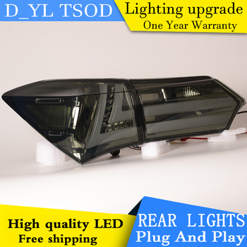 D_YL Car Styling for Toyota Corolla Tail Lights 2014-2016 New Corolla LED Tail Light Altis Rear Lamp DRL+Brake+Park+Signal