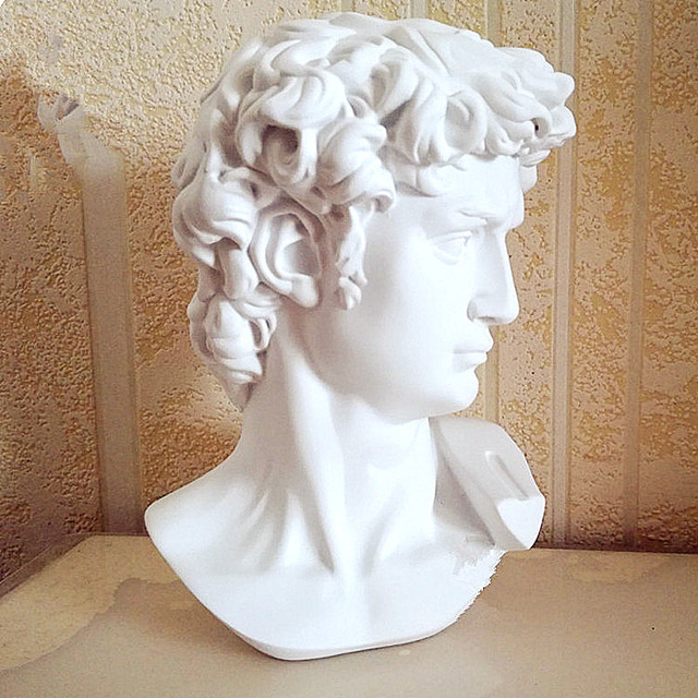 BAO GUANG TA David Head Portraits Bust Gypsum Statue Michelangelo Buonarroti Sculpture Home Decor Craft Sketch Practice L1239 4