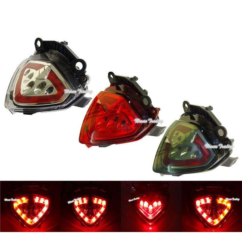 waase For Honda <font><b>CB500F</b></font> CB500X CBR500R 2013 2014 2015 2016 2017 <font><b>2018</b></font> Rear Tail Light Brake Turn Signals Integrated LED Light image