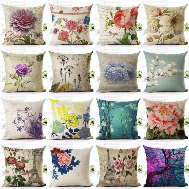 Euro Style Home Decor Cushion Cover Big Rose Throw Pillows Sofa