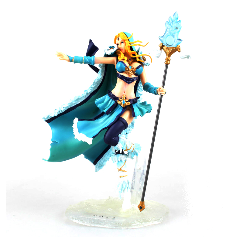 Dota 2 Rylai Crestfall figurines heroes toy 2016 New Dota2 action figure Rylai Crestfall PVC game doll party supply decoration 5pcs lot dota 2 figurines hero toy ynrnero jugg 2016 new gold limited edition dota 2 action figure game doll party supply decor