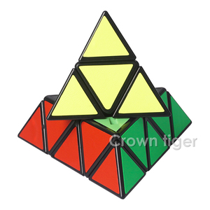 Image 5 - 3X3X3 משולש פירמידת קסם מקצועי מהירות משחק קוביות כיף חינוכיים צעצוע מתנות לילדים ילדים