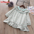 Mihkalev Pattern kids dresses for girls party wear 2018 spring children long sleeve tutu dress 8years girl princess dress outfit