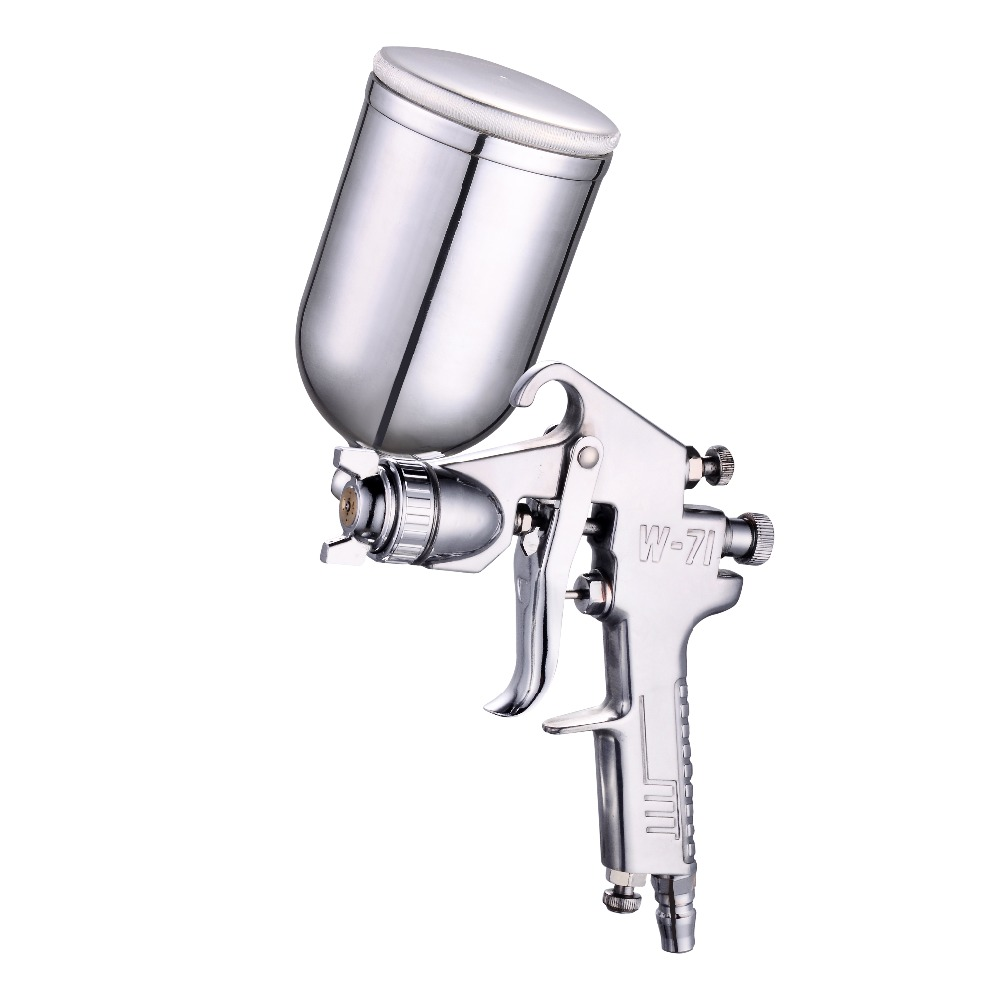 W-71 Gravity Spray Gun Furniture Car Paint Finish Paint Pneumatic Spray Gun 1.3/1.5mm jiacai w 71 gravity spray gun manual paint gun 1 0 1 3 1 5 1 8mm car furniture auto painting coating spray gun with 400cc cup