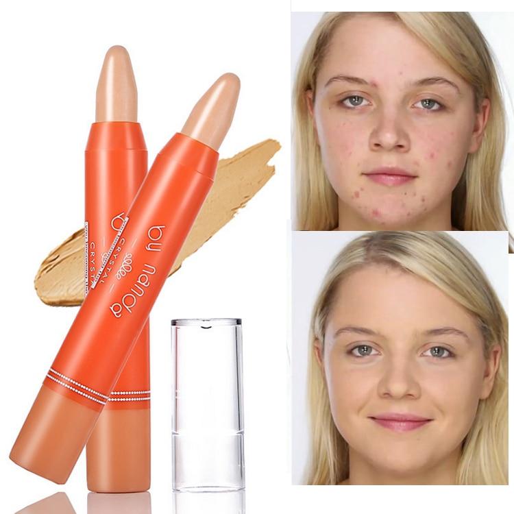 Face Base Concealer Makeup Creamy Long-lasting Natural Eye Foundation Concealer Stick Minerals Face Contour Concealer Pencil