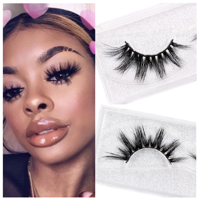 LEHUAMAO Eyelashes 3D Mink Eyelashes Criss-cross Strands Cruelty Free High Volume Mink Lashes Soft Dramatic Eye Lashes E1 Makeup