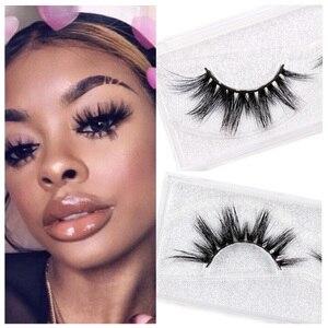 LEHUAMAO Eyelashes 3D Mink Eyelashes Criss-cross Strands Cruelty Free High Volume Mink Lashes Soft Dramatic Eye lashes E1 Makeup(China)