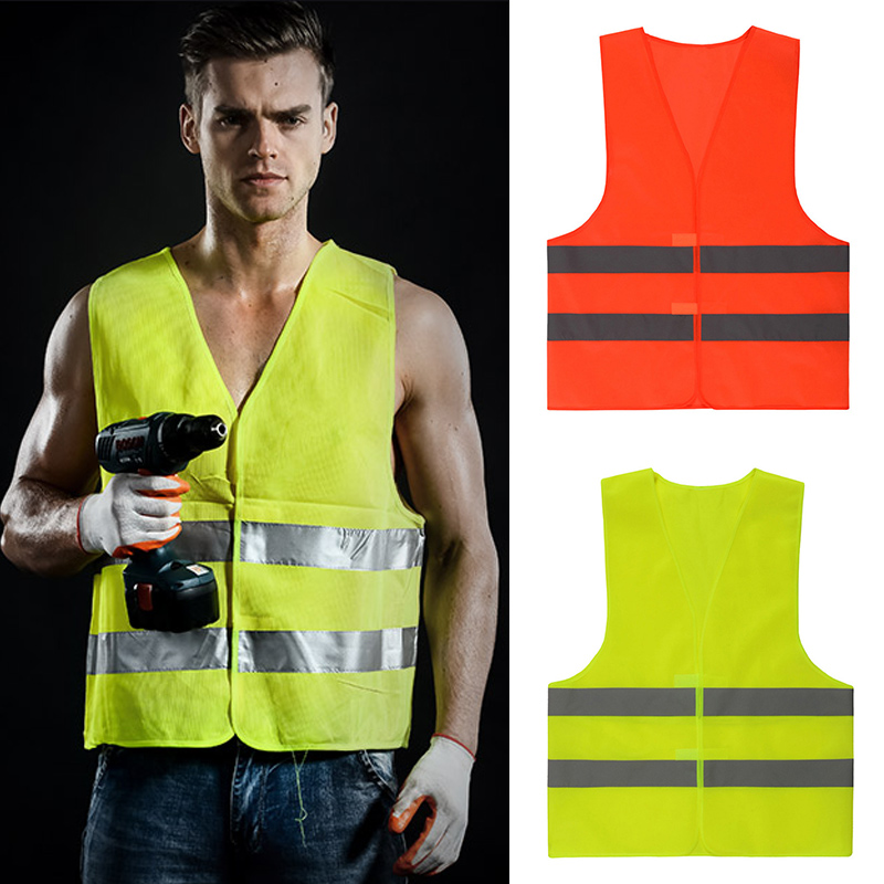 Safety Reflective Vest Security Visibility Construction Traffic Warehouse LCC77Safety Reflective Vest Security Visibility Construction Traffic Warehouse LCC77