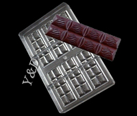 Flower shaped Exhaust Block Mold 6x2 Lines Chocolate Bar Polycarbonate Jelly Mould Hard Injection PC Candy Tray