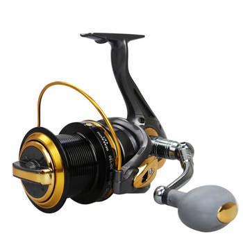 12+1BB 4.6:1 TF8000-110000 Series Big Long Shot Rod Wheel Spinning Fishing Line Reel Distant Sast Trolling Raft Sea Rock Lake