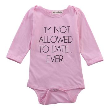 Odzież dla niemowląt Romper Wear Body odzież dla niemowląt bawełniane śpioszki dla niemowląt tanie i dobre opinie CANIS COTTON Dziecko dziewczyny Krótki Przycisk zadaszone List O-neck Pasuje prawda na wymiar weź swój normalny rozmiar