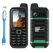 """Русский vkworld камень V3 плюс 4000 мАч долгого ожидания телефона MTK6261 32 МБ Оперативная память 32 МБ Встроенная память 2.4 """"двойной SIM Bluetooth FM радио факел"""
