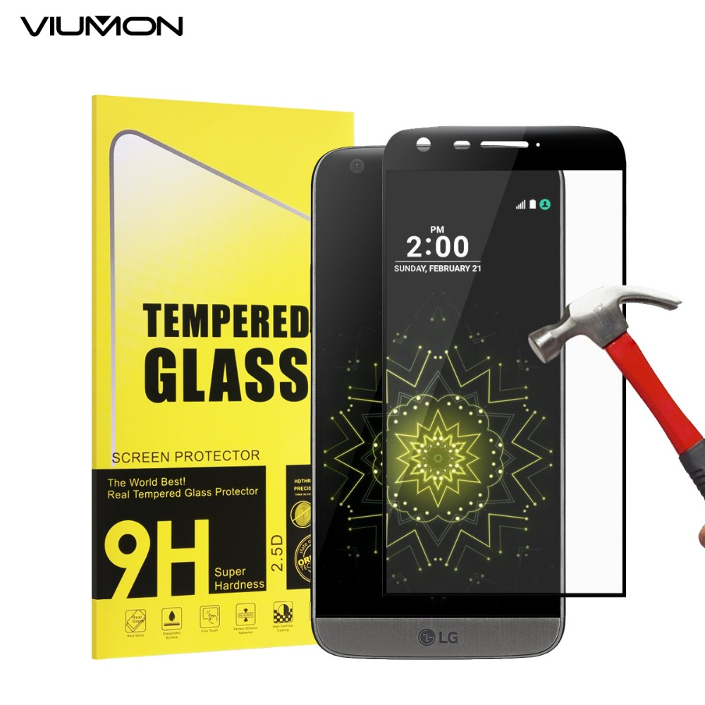 VIUMON 3D Curved Edge Tempered Glass For LG G5 Full Cover Screen Protector Protective Film For G5 SE