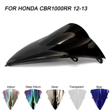 ABS Windscreen For Honda CBR1000RR CBR 1000RR 2012 2013 2014 2015 2016 Double Bubble Motorcycle Windshield Wind Deflectors black motorcycle motorbike windshield double bubble windscreen wind deflectors air flow for honda cbr1000rr cbr 1000rr 2004 2007