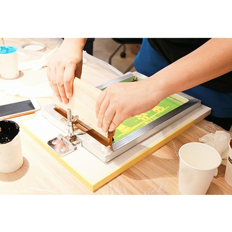 Screen Printing Kit Aluminum Frame + Hinge Clamp + Emulsion Scoop Coater + Squeegee Screen Printing Tool Parts