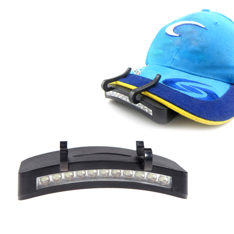 11 LED Clip-On Caplight White Light Lamp Cycling Hiking Camping Cap Light Night Fishing Repair Car Outdoor Caplights11 LED Clip-On Caplight White Light Lamp Cycling Hiking Camping Cap Light Night Fishing Repair Car Outdoor Caplights